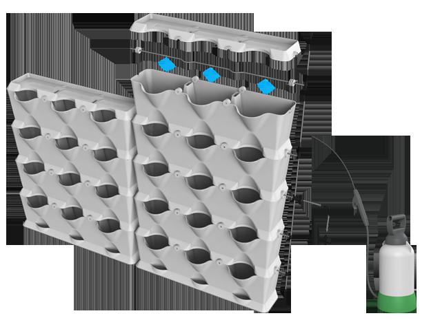 Irrigation kit for minigarden vertical minigarden us - Fabriquer goutte a goutte ...