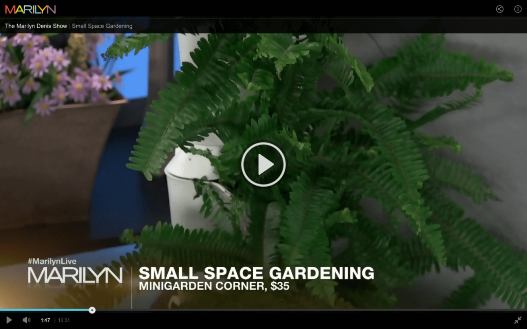 Marilyn Denis Small Space Gardening
